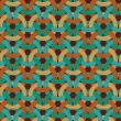 Circle Weaving Geometric Seamless Pattern. Colorful background. — Stock vektor