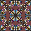 Floral Abstract Seamless Pattern. — Stock Vector