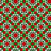 Ponto de cruz étnica padrão sem emenda. handmade traditiona orient — Vetorial Stock
