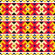 Stock Vector: Ethnic seamless pattern. Cross stitch handmade orient traditiona