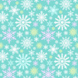 Snowflake seamless pattern. Winter background. — Stock Vector #31227355