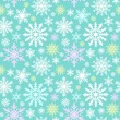 Snowflake seamless pattern. Winter background. — Stock Vector