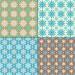 Set of 4 seamless pattern with snowflakes. Winter backgrounds. — Stock Vector #31227357