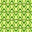 Seamless pattern with green leaves. — Stock Vector