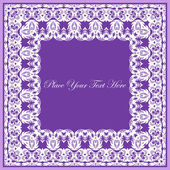 Lace vector square frame. Decorative element for invitations and — Stock Vector