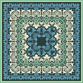 Vector ornamental card. Floral damask ornament. — Stock Vector