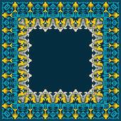 Floral ornamental frame. Vector card. — Stock Vector