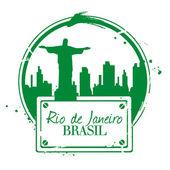 Brésil Rio de Janeiro — Stock Vector