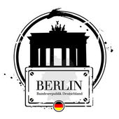 Berlin, capitale de l'Allemagne — Stock Vector