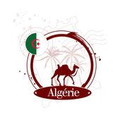 Stamp Algeria — Stock Vector