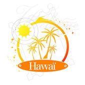 Hawaï, USA — Stock Vector