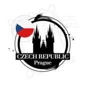 Prague, Czech Republic — Stock Vector