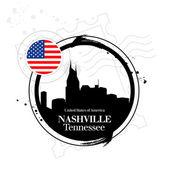 Stamp Nashville — Stock Vector