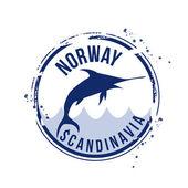 Stamp Norway — Stock Vector