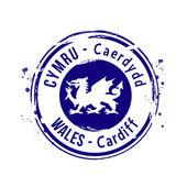 Stamp Wales — Vector de stock