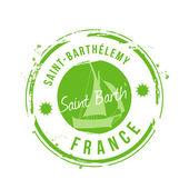 Stamp Saint-Barthélemy — Stock Vector
