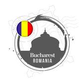 Bucharest, Romania — Stock Vector
