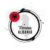 Stamp Tirana, Albania — Stock Vector