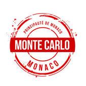 Stamp Monte Carlo, Monaco — Stock Vector