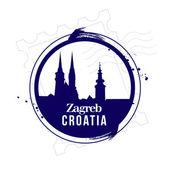 Zagreb, Croatia — Stock Vector