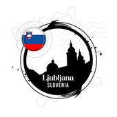 Ljubljana, Slowenien — Stockvektor