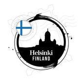 Helsinki, Finland — Vector de stock
