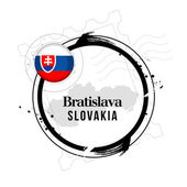 Bratislava, Slovakia — Stock Vector