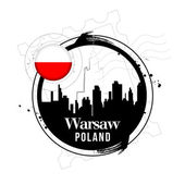 Warsaw, Poland — Stock Vector