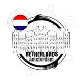 Amsterdam, nizozemsko — Stock vektor