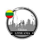 Vilnius, Lithuania — Stock Vector