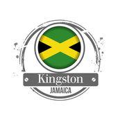 Kingston, Jamaica — Stock Vector
