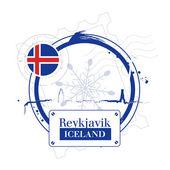 Reykjavik, Iceland — Stock Vector