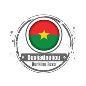 Stamp Ouagadougou — Stock Vector