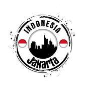 Stamp Jakarta — Stock Vector