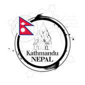 Stamp Kathmandu — Stock Vector