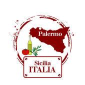 Palermo, Sicily — Stock Vector