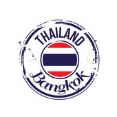 Stamp Bangkok — Stockvector