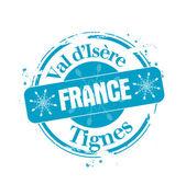 Tignes, France — Stock Vector