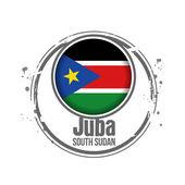 ジュバ、南スーダン — ストックベクタ