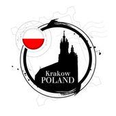 Krakow, Poland — Stock Vector