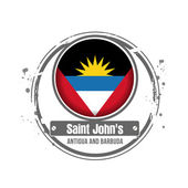 Saint John's, Antigua and Barbuda — Stock Vector
