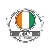 Abidjan, Ivory Coast — Stock Vector