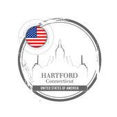 Hartford, Connecticut — Stock Vector