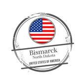 Bismark, North Dakota — Stock Vector