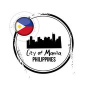 City of Manila, Philippines — Stock Vector