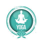 Stamp yoga — Stock Vector