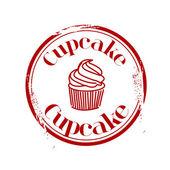 Stämpel cupcake — Stockvektor