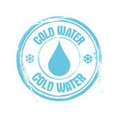Cold Water — Stock Vector
