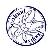 Stamp Seafood — Stock Vector