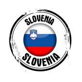 Slovenya cumhuriyeti bayrağı — Stok Vektör